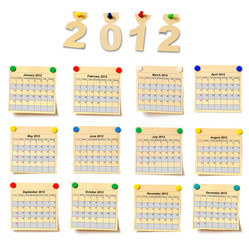 calendar on set note 2012