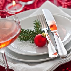 X-mas table setting