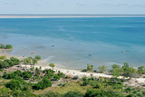 Coastal waters and rural settlement, Mozambique, southern Africa poster