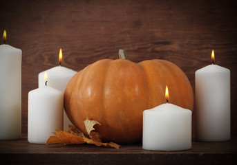 Pumpkin with candels