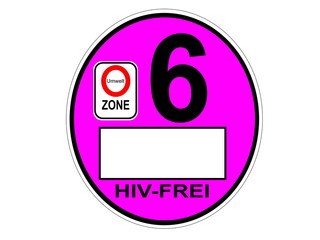 HIV SEX Plakette Umweltplakette