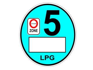 Umweltzone LPG Gas Plakette