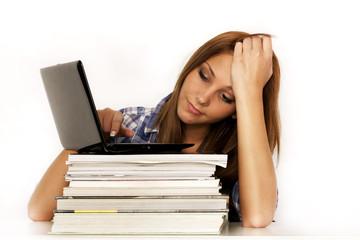 Studentin beim lernen