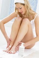 Soins des pieds- Crème hydratante