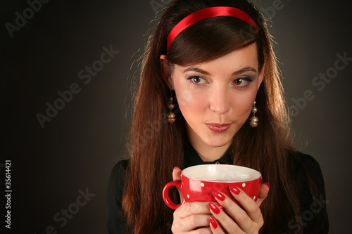 with red cup