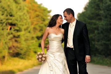 bridge, celebration, couple, happiness, wedding,
