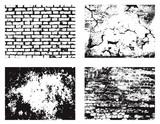 Grunge wall textures set
