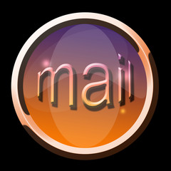 bouton mail cuivre rond