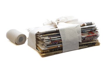 toilet newspapers concept