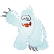 yeti cartoon lustig monster