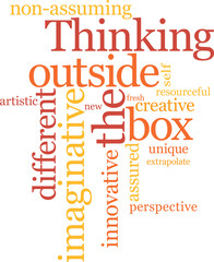 Thinking outside the box word cloud