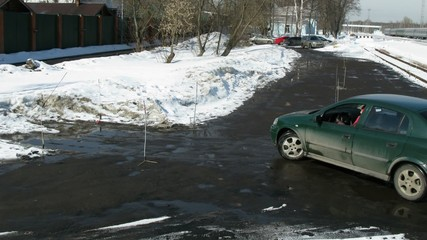 Woman pass maneuverability driving test