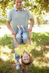 Child having fun at park