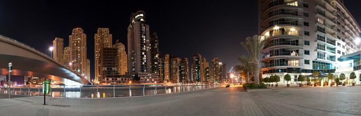 Dubai Marina under the Bridge
