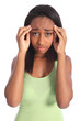 Painful headache for african american teen girl