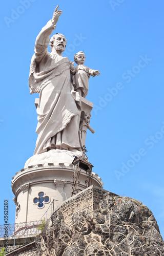 Saint Joseph de Bon Espoir Espaly statue Poster