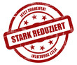 Sternen Stempel rot rt STARK REDUZIERT