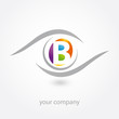 logo, b, optique, opticien, diagnostic, artisan