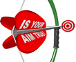 Is Your Aim True? Question on Bow and Arrow Target