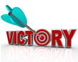 Victory Arrow in Word Succeed Triumph in Competition