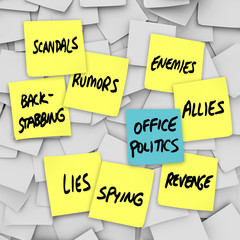 Office Politics Scandal Rumors Lies Gossip - Sticky Notes