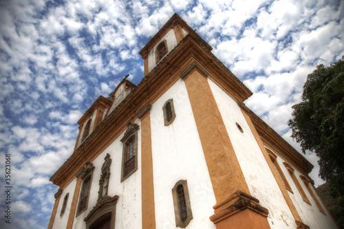 Historic Catholic Church in Brazil - Minas Gerais - Sabara