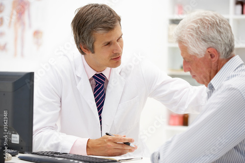 Doctor with senior patient
