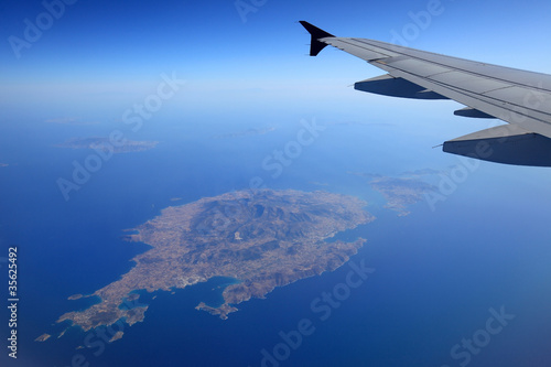 Aerial View of Paros Island in Aegean Sea