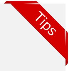 corner ribbon Tips en