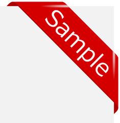 corner ribbon Sample en