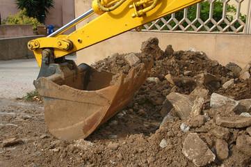 pala dell'escavatore