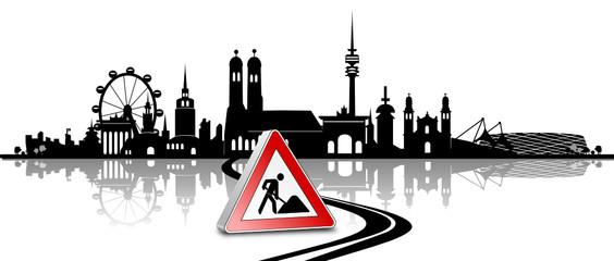 Skyline München Baustelle