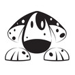 Logo Dalmatian dog # Vector