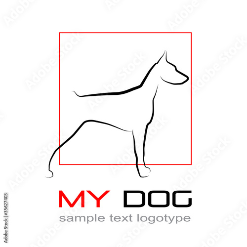 Logo Dog, doberman # Vector