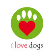 Logo i love dogs # Vector