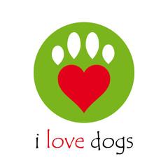 Logo i love dogs # Vector