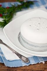 Christmas cake, decorated
