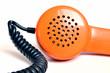 Telefonhörer Retro Orange