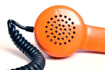 Telefonhörer Retro Orange