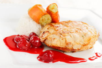chicken with cherry  sauce