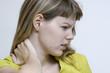Femme douleur cervicale