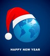 world Christmas ball, vector background
