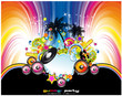 Abstract Tropical and latin music event background