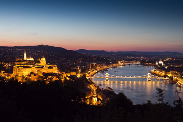 Panorama of the Castle of Budapest