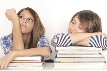 Studentinen beim lernen