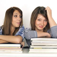 Freunde beim lernen
