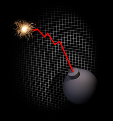 Downward trend leading to explosion