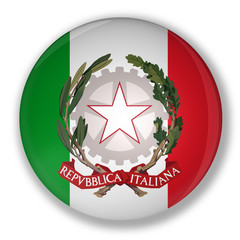 Badge with flag of italy