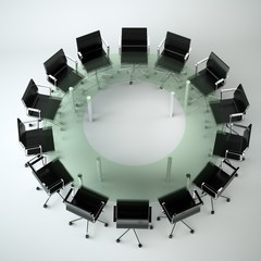 Bürodesign - Konferenztisch schwarz 2