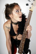 Girl on rock guitar